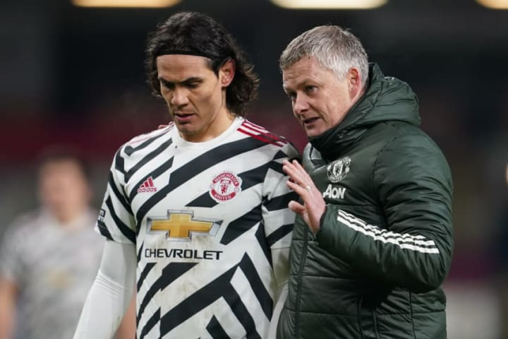 Solskjaer has been impressed with Cavani