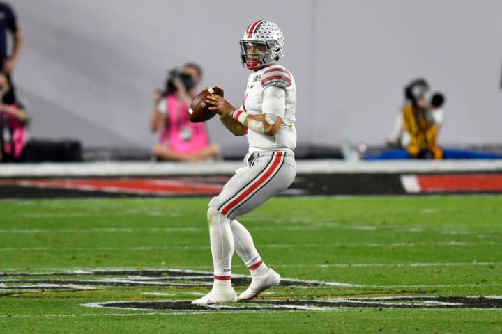 Justin Fields, CFP National Championship Presented by AT&T - Ohio State v Alabama