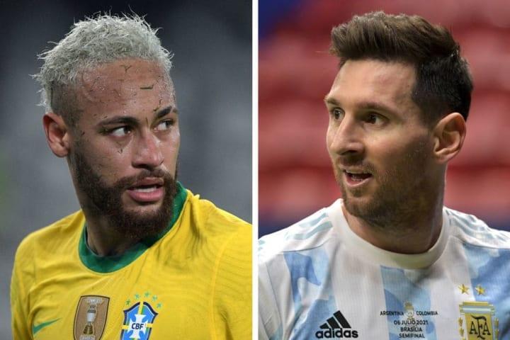 neymar messi brasil argentina copa america
