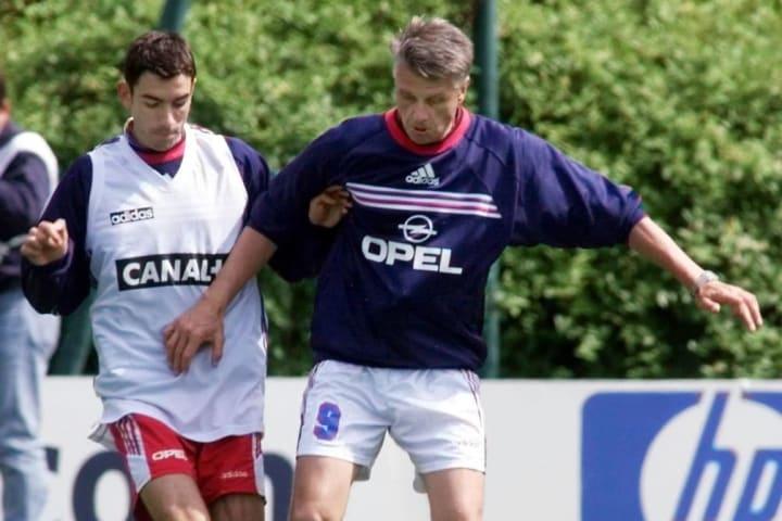 Allenamento francese al Mondiale 1998