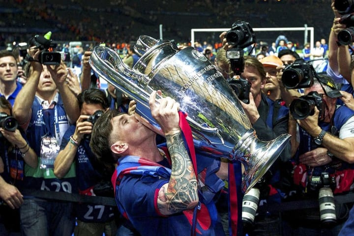Messi hasn't won the Champions League as often as he should of