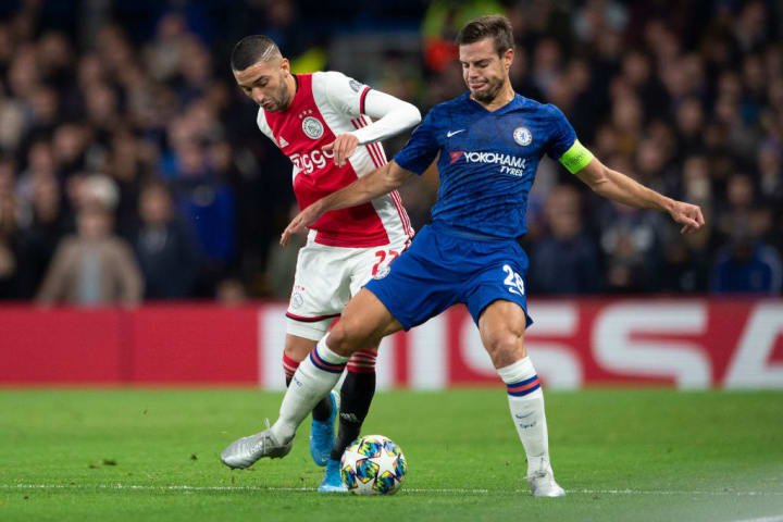 Ajax drew with Chelsea 4-4 when they visited Stamford Bridge earlier this term