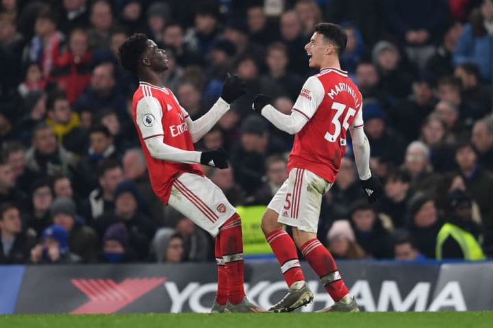 Arsenal youngsters Saka, Martinelli, and Willock have seen their market values increase