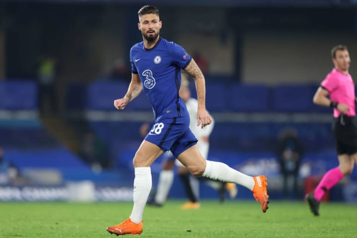 Giroud has struggled for minutes so far in 2020/21