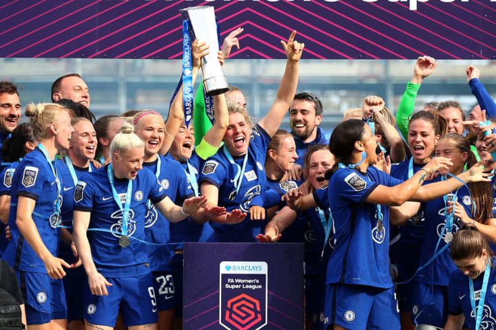 Chelsea were WSL champions in 2020/21