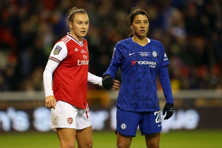 Arsenal vs Chelsea sees the battle of Australians Caitlin Foord and Sam Kerr