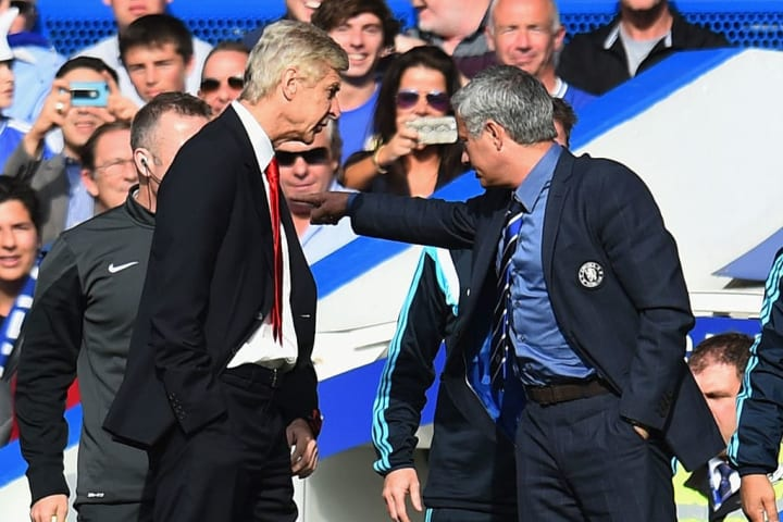 Mourinho rarely passed up the opportunity to ruffle the feathers of his long-term sparring partner Arsène Wenger