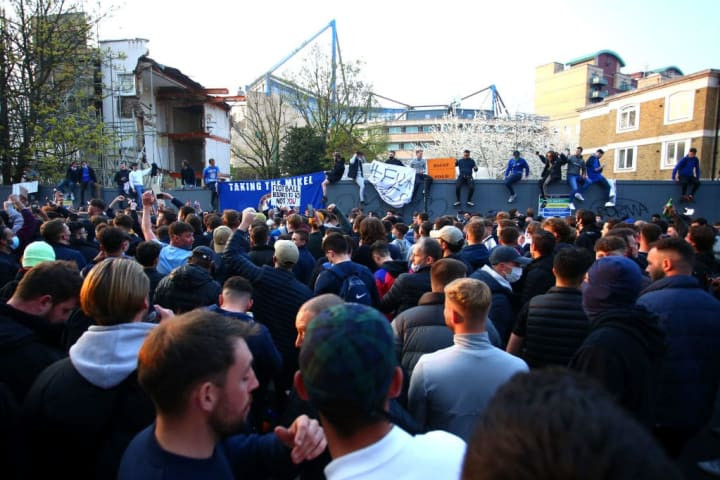 A protest outside Stamford Bridge threatened to impact Chelsea's game with Brighton