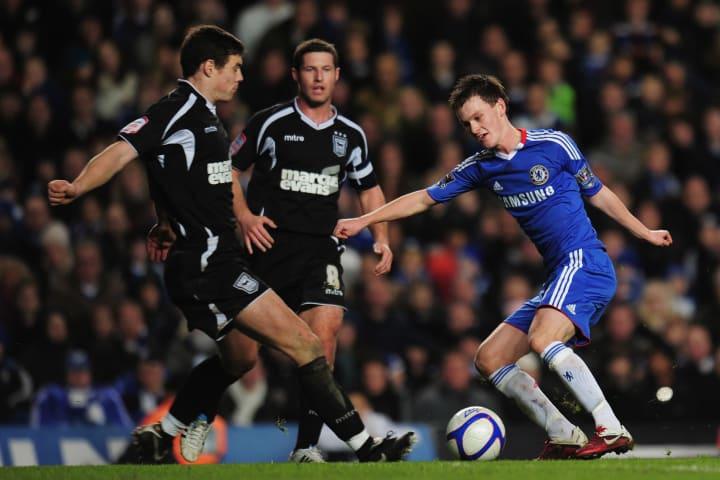 Chelsea's Josh McEachran takes on Ipswich