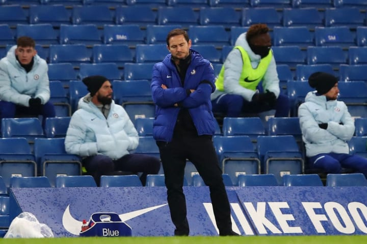 Lampard looked dejected at points on the touchline