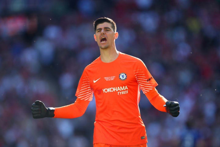 In four seasons at Stamford Bridge, Courtois won two Premier League titles, the FA Cup and the League Cup