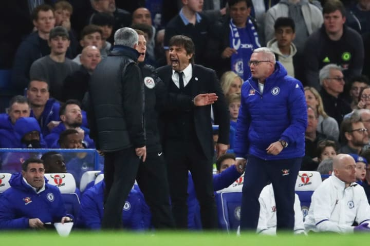 It also got heated on the touchline between Mourinho and Conte