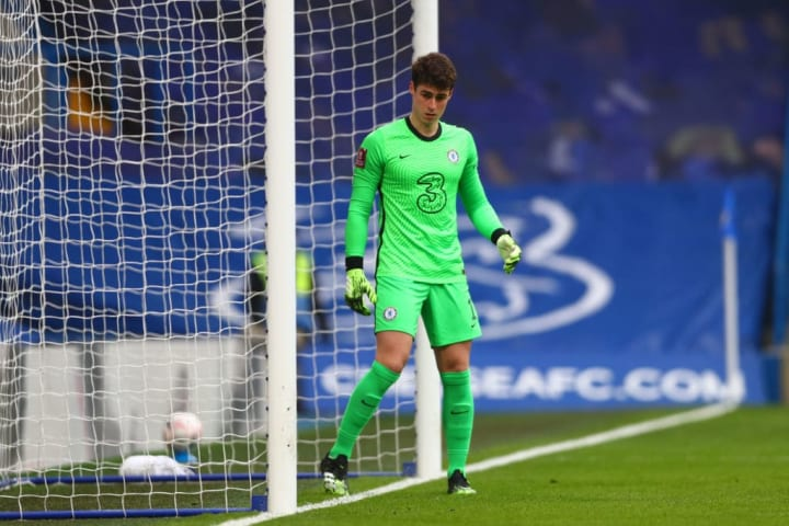 Kepa made his first domestic appearance since October