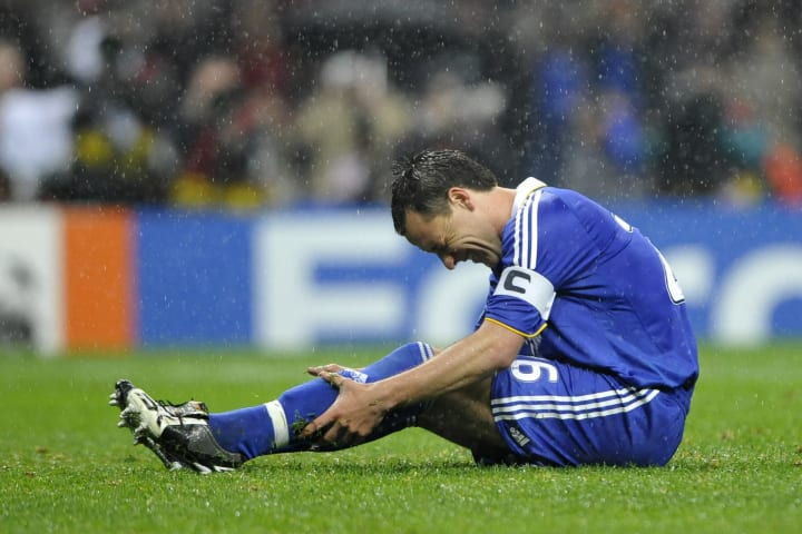 Terry missed the chance to win Chelsea their first European Cup
