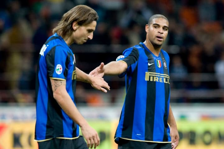 Adriano e Ibrahimovic tuvieron la fortuna de compartir equipo en el Inter
