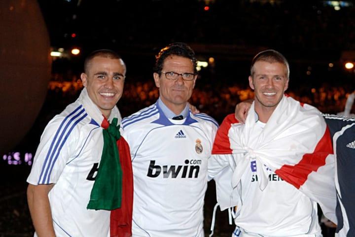 David Beckham, Fabio Cannavaro, Fabio Capello