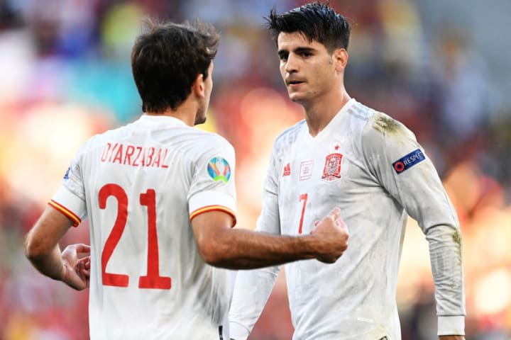 Alvaro Morata Espanha Suíça Eurocopa Quartas de final
