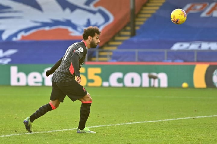 Salah netted twice from the bench