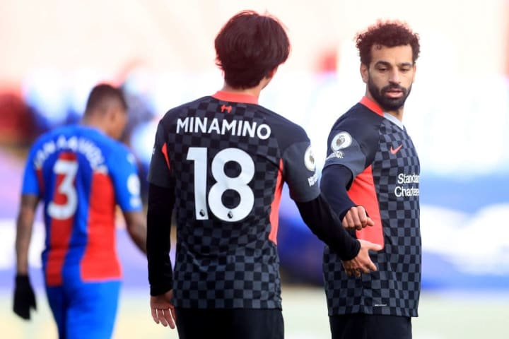 Takumi Minamino, Mohamed Salah