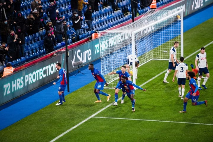 Schlupp netted Palace's equaliser against Spurs