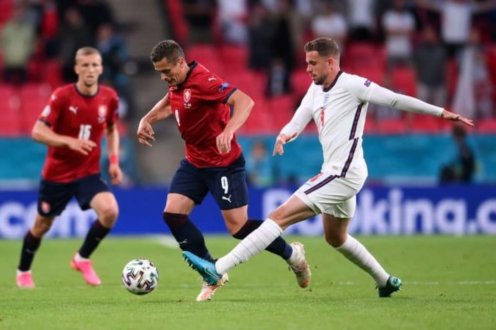 Jordan Henderson made his Euro 2020 debut against the Czech Republic