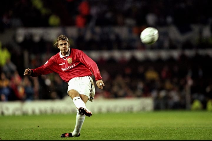 David Beckham of Manchester Utd