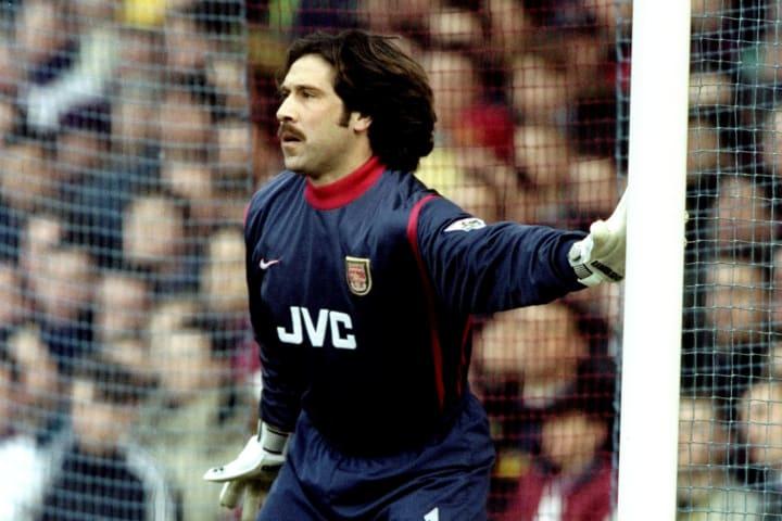 David Seaman playing in goal for Arsenal