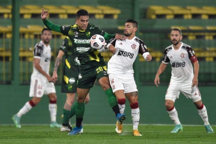 Juan Rodríguez Giorgian de Arrascaeta Zebra Flamengo Defensa y Justicia Libertadores