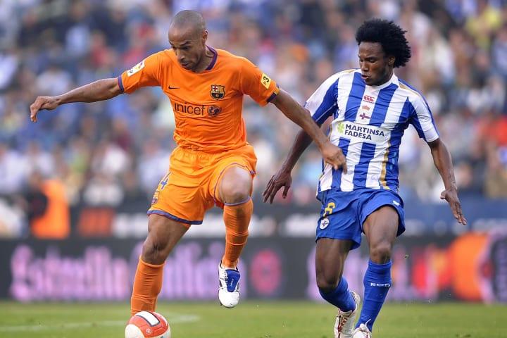 Thierry Henry scored five goals against Deportivo La Coruna