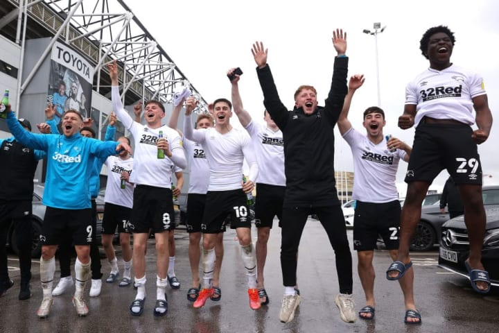 Derby County survived on the final day of the season