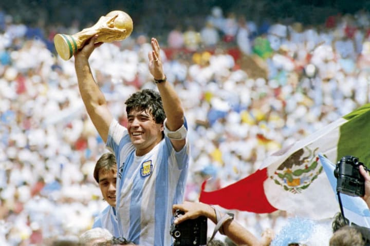 Diego Maradona inspired Argentina to 1986 World Cup glory