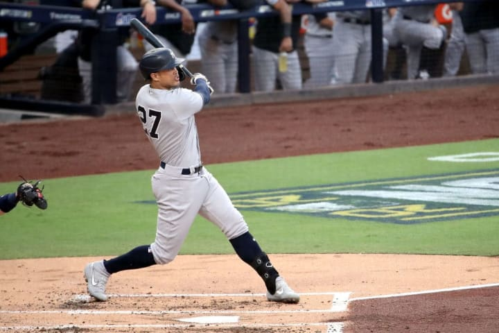 Giancarlo Stanton has 21 home runs for the New York Yankees this 2021 campaign in 435 at-bats.