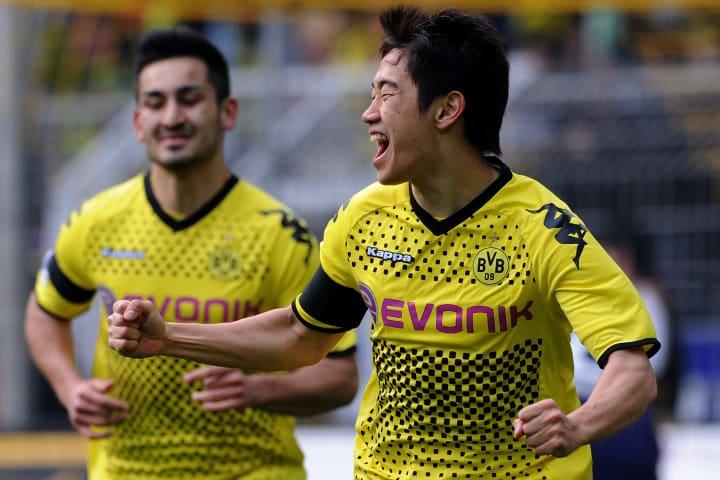 Dortmund's Japanese forward Shinji Kagaw
