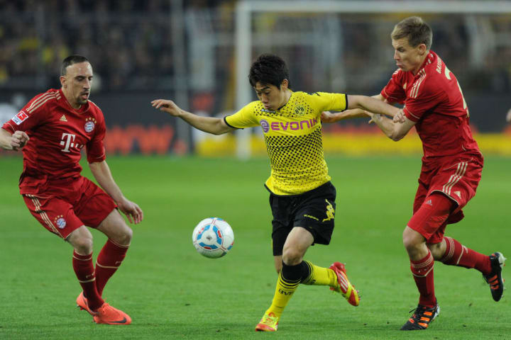 Bayern were outplayed by Dortmund throughout the first half
