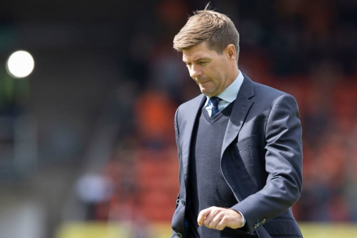 Steven Gerrard has suffered defeat in the league for the first time in over a year