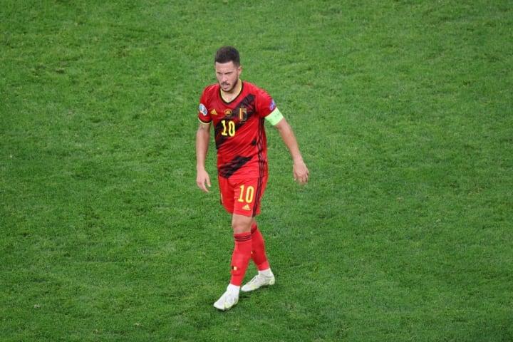 Eden Hazard (10) of Belgium seen during the European...