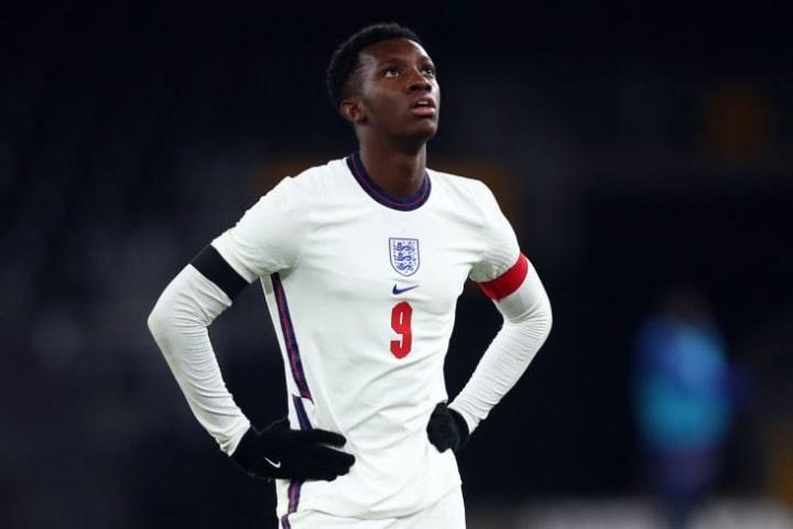 Eddie Nketiah mengalami sore yang membuat frustrasi melawan Swiss