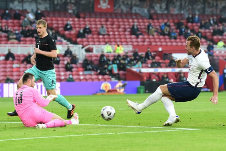 Harry Kane's first-half effort would have been ruled out for offside