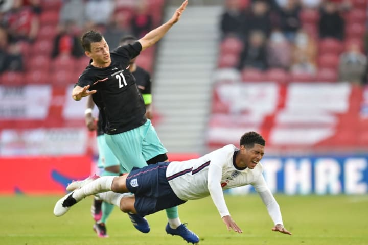 Jude Bellingham produced an all-action display against Austria
