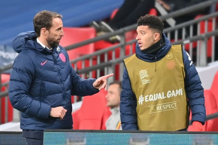 Sancho on the bench for England