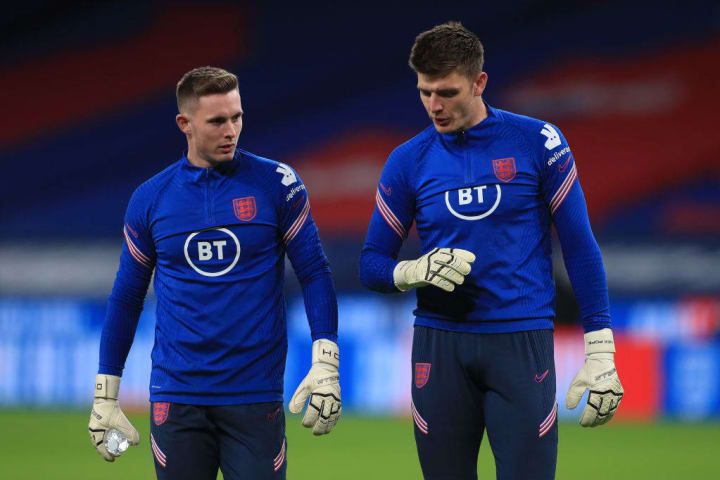 Nick Pope makes a play for the arm rest