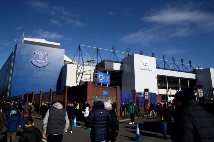 Everton started playing at Goodison Park in 1892