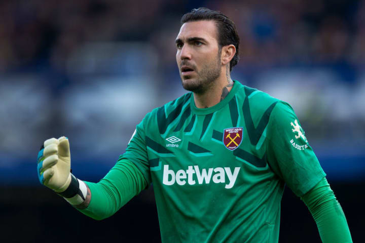 Roberto had a torrid time in the West Ham net