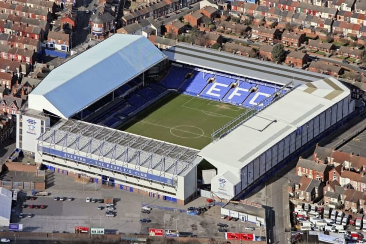 Everton have played at Goodison Park since 1892
