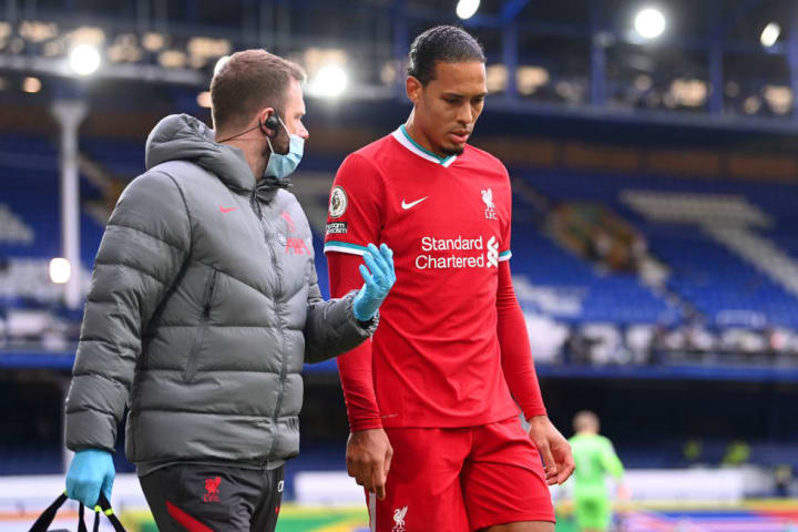 Van Dijk hasn't played since suffering ACL damage against Everton in October 2020