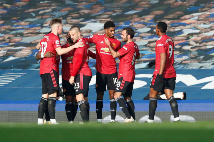 United are the third team to win three consecutive Premier League away games after letting in the first goal