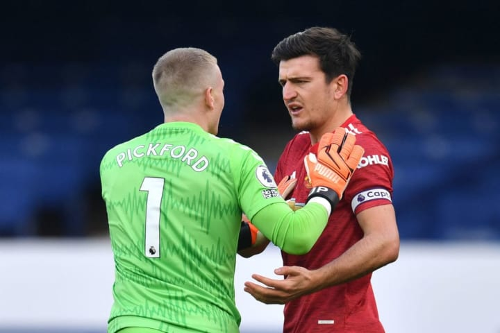 Maguire should have won a penalty against the Toffees