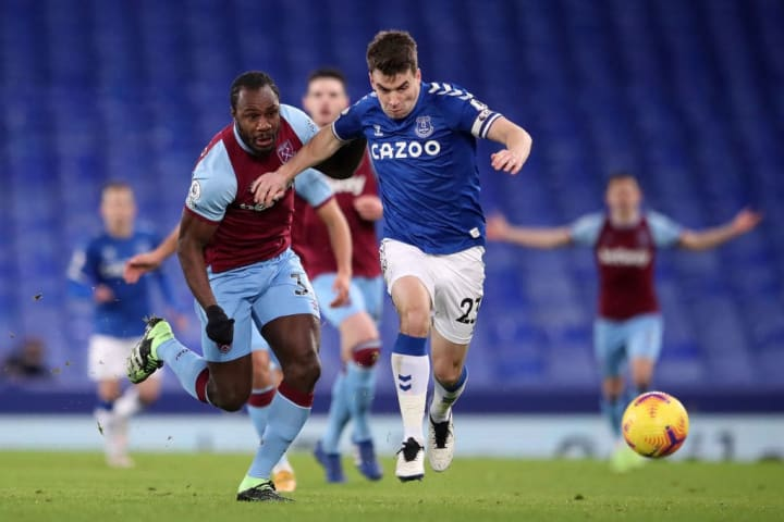Coleman bursts past Michail Antonio