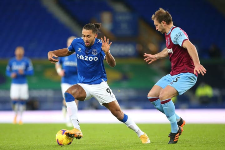 Calvert-Lewin was substituted against West Ham