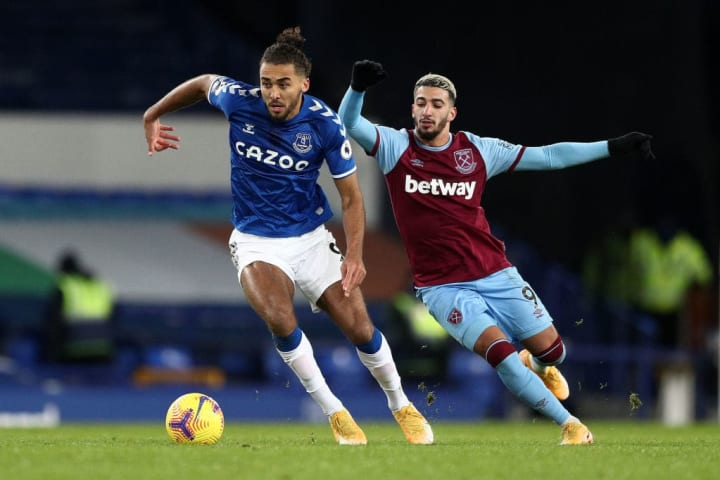 Calvert-Lewin was swallowed by West Ham's resilient defence